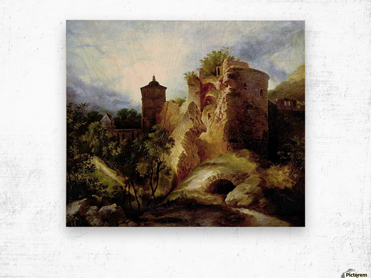A deserted castle Wood print