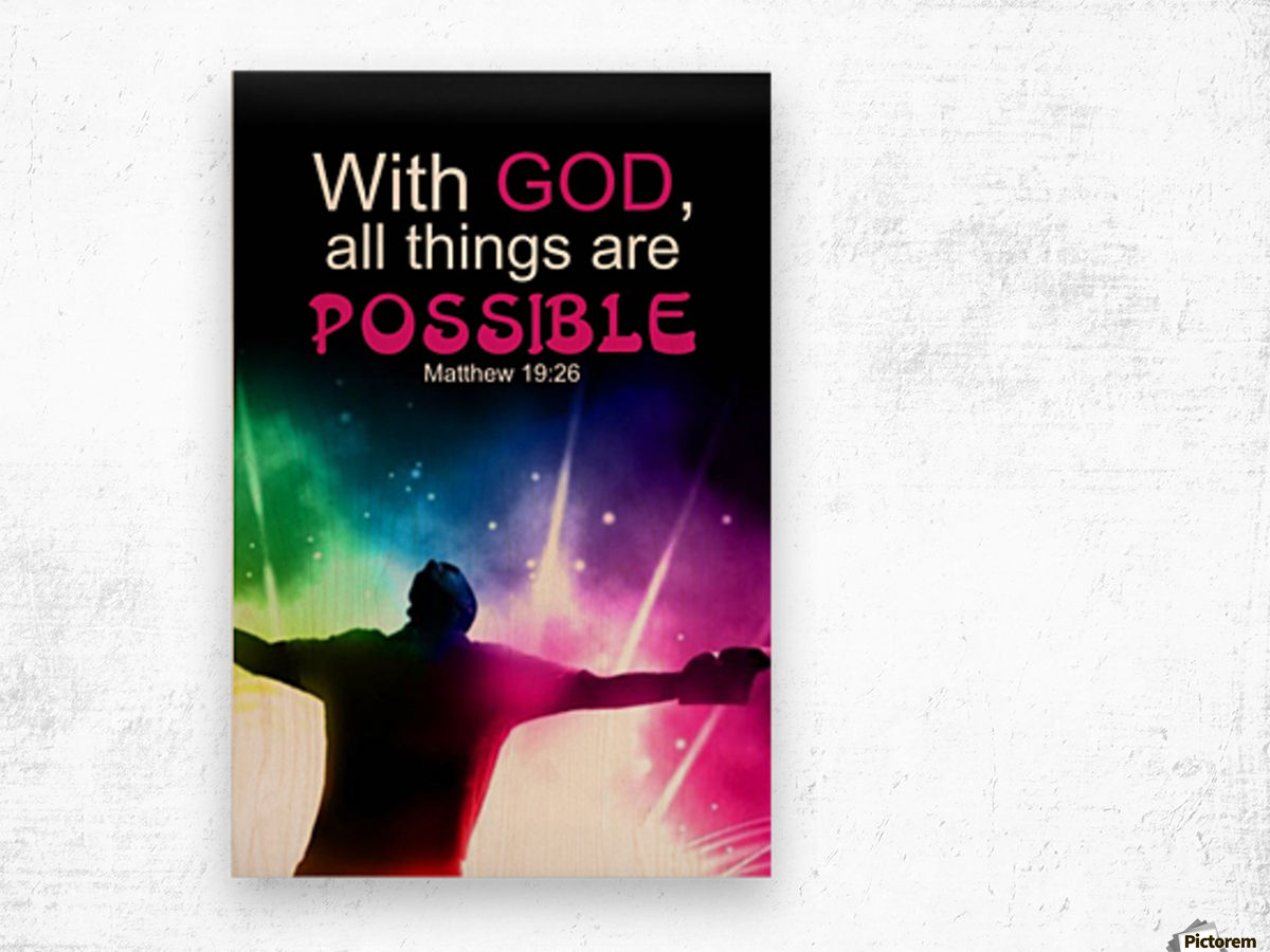 All things Possible Wood print