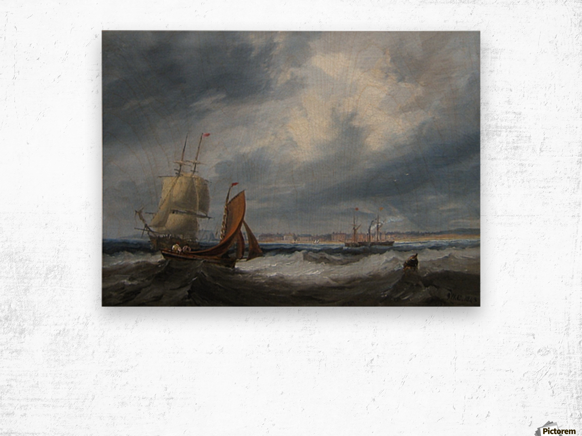 Shipping off Seaham Wood print