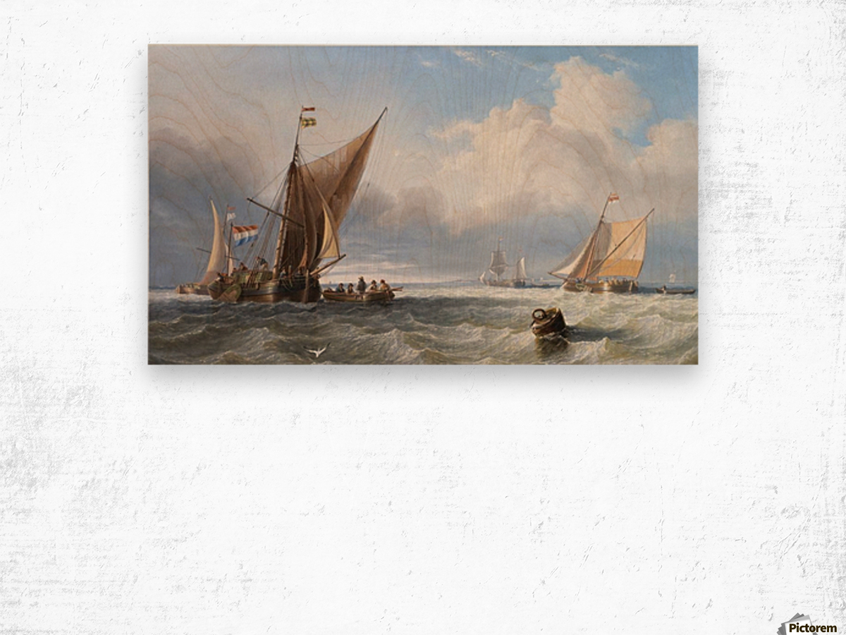 Off the Dutch Coast Wood print