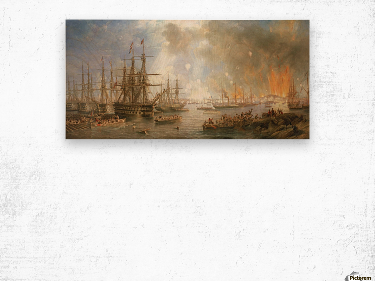 The Bombardment of Sveaborg Wood print