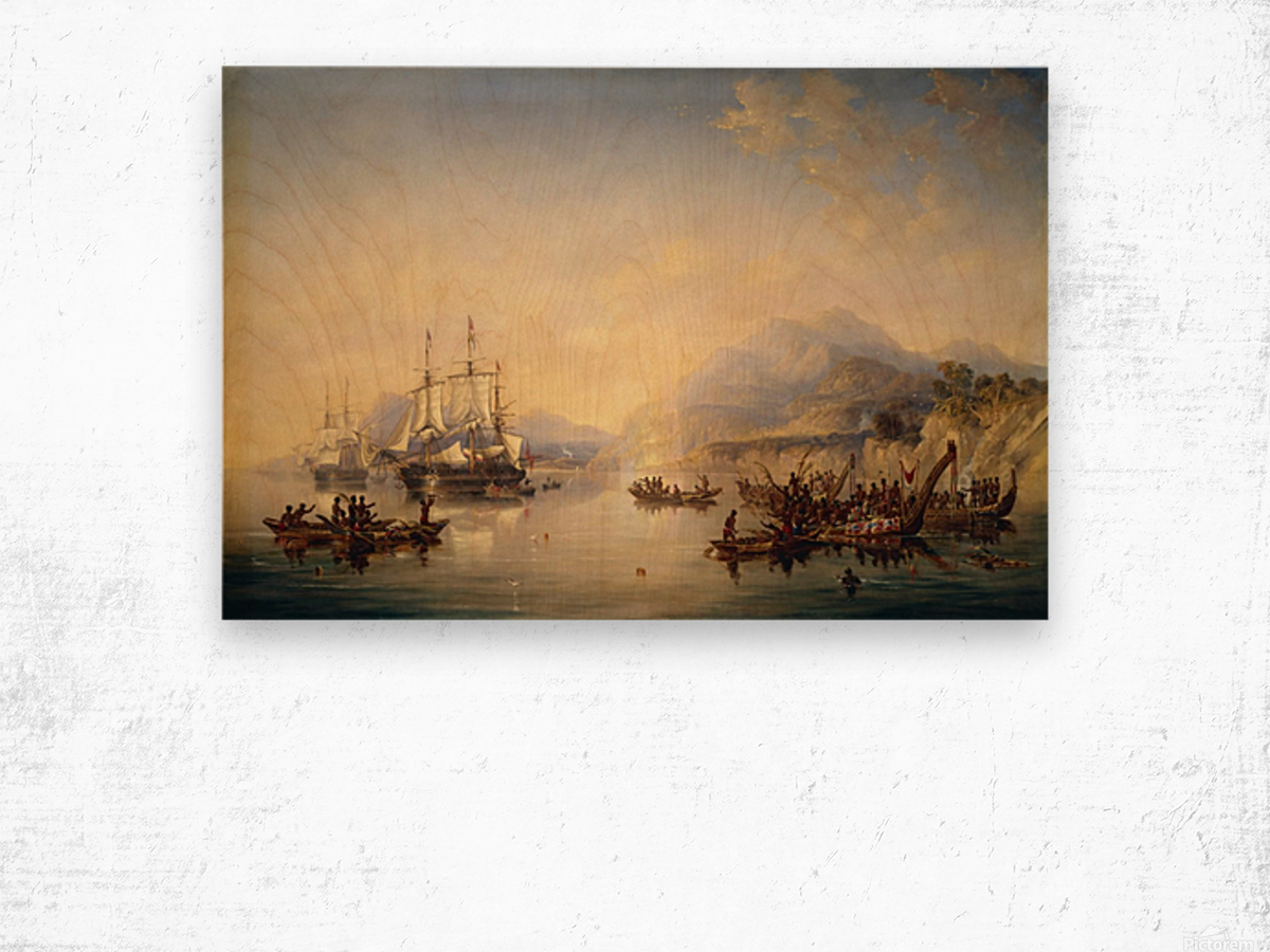 Erebus' and the 'Terror' in New Zealand Wood print