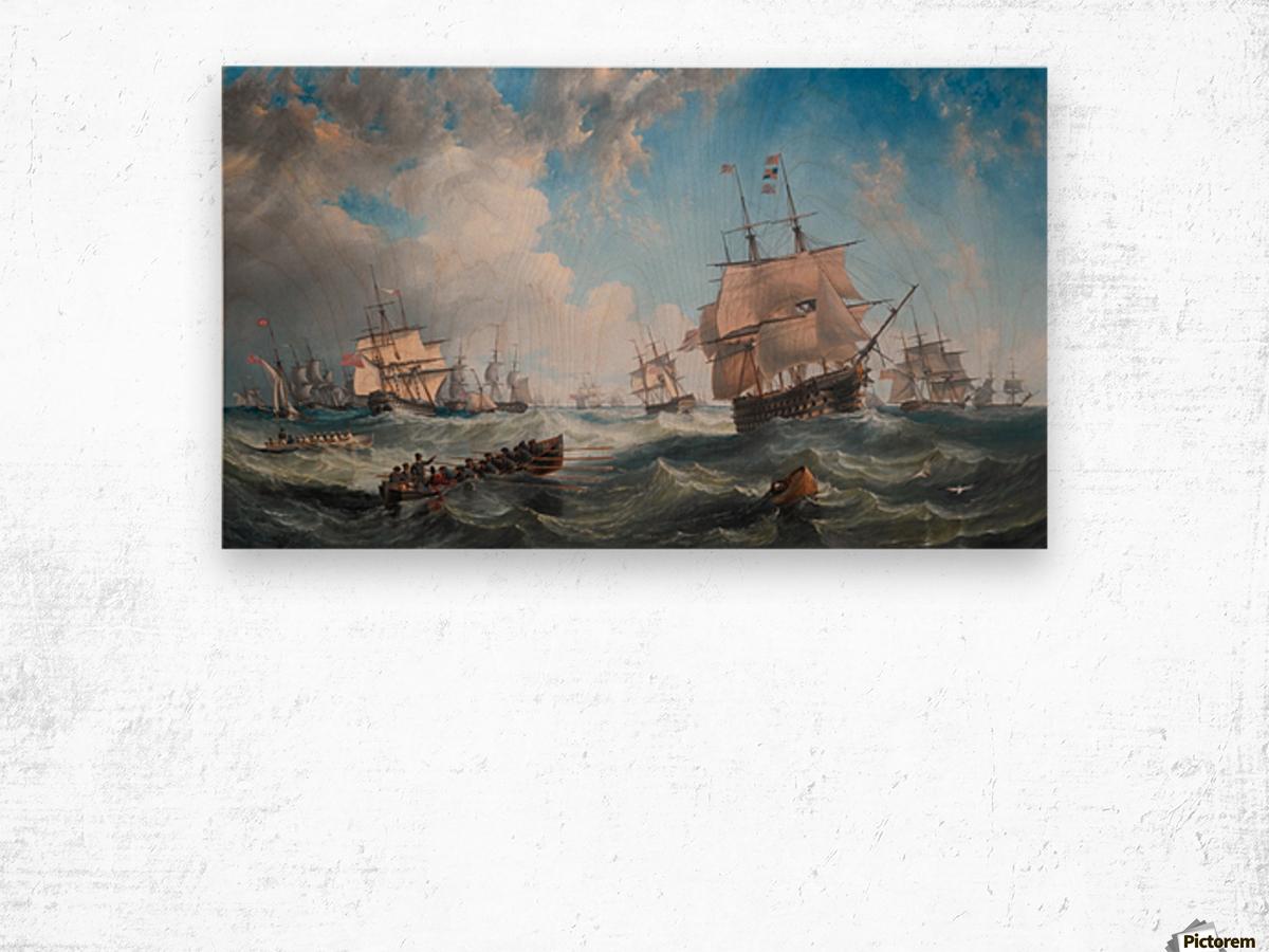 The Channel fleet in heavy weather Wood print