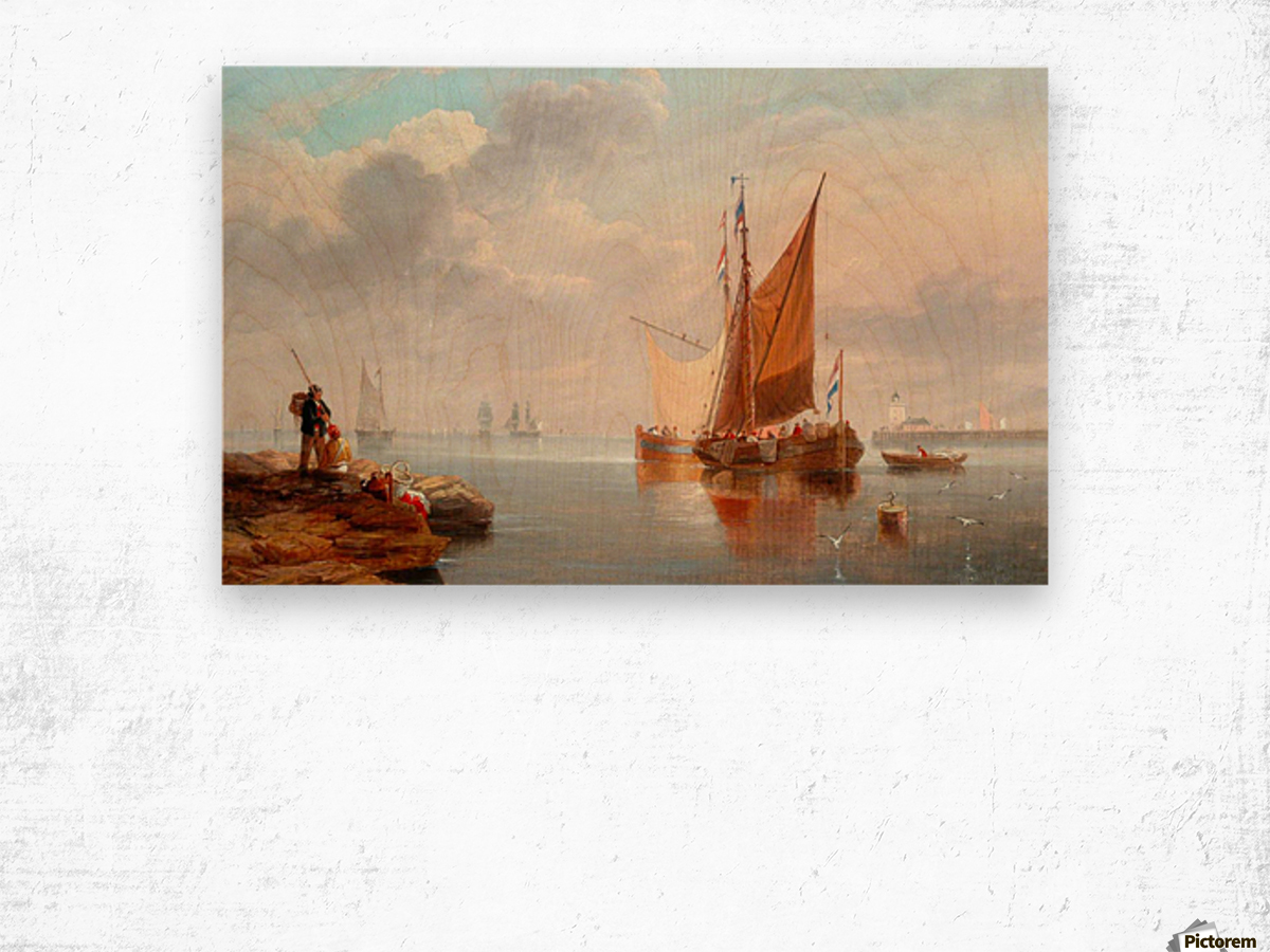 Dutch Fishing Boats Wood print