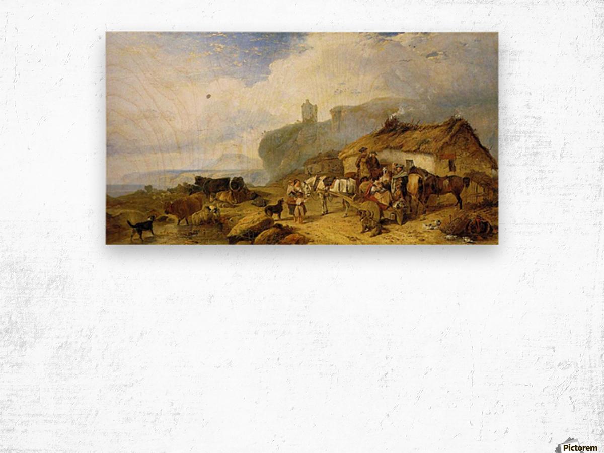 The Drover's Halt, island of Mull Wood print