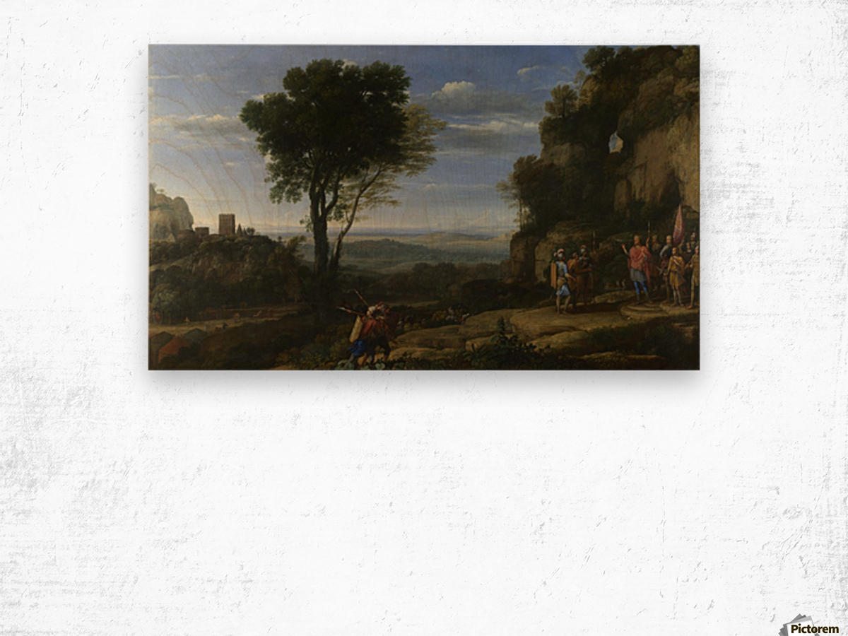 Landscape With David At The Cave Of Adullam Wood print