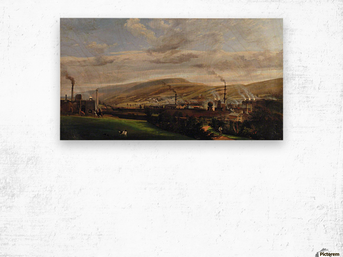 South Wales Industrial Landscape Wood print