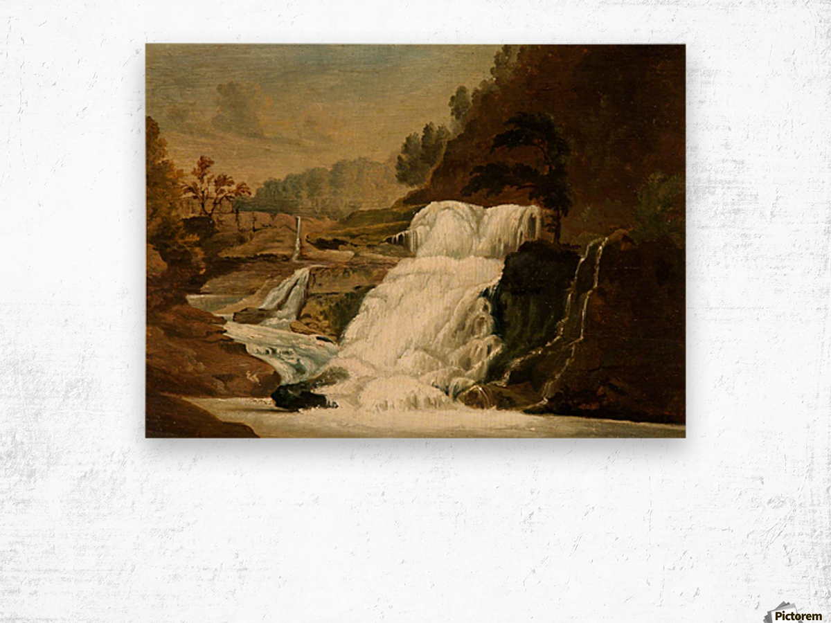 Waterfall in the Neath Valley Wood print