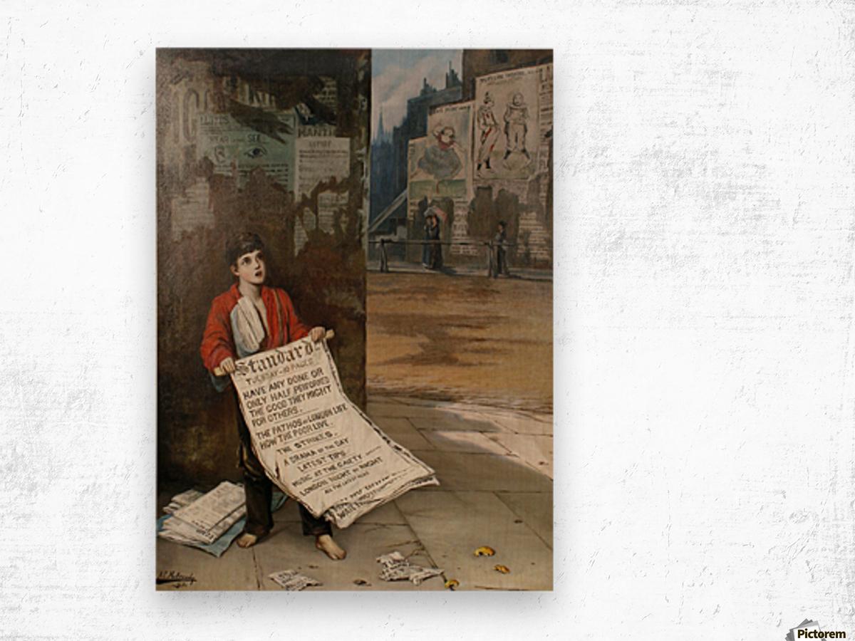 A London Newsboy 1893 Wood print