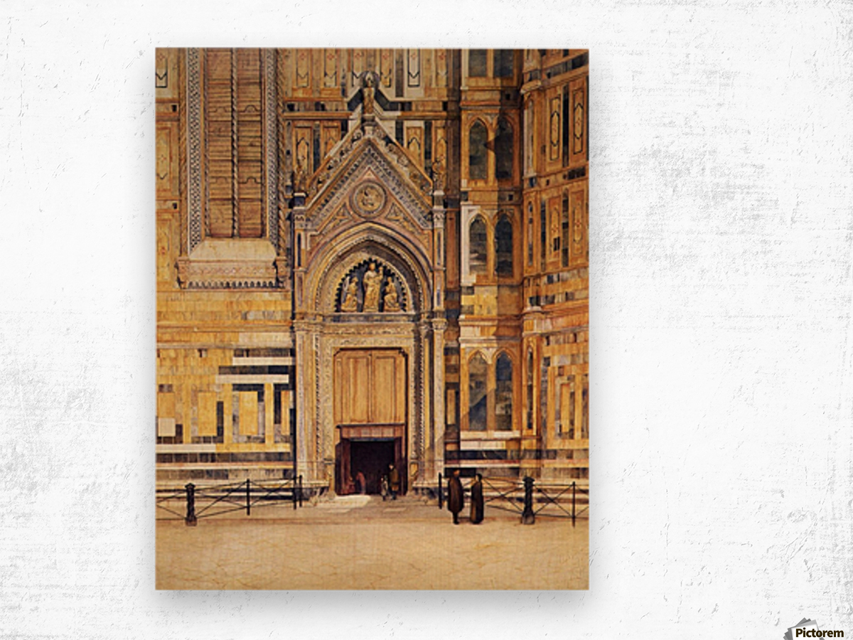 The South Door of the Duomo 1881 Wood print