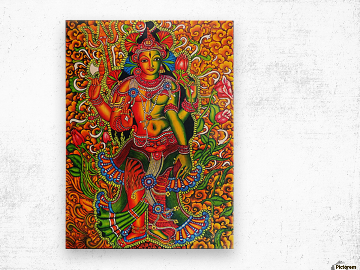 ARDHA NAAREESHWARAN LORD SIVA AND PARVATHY Wood print