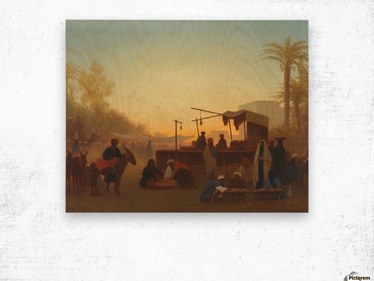 Marche au Caire Wood print