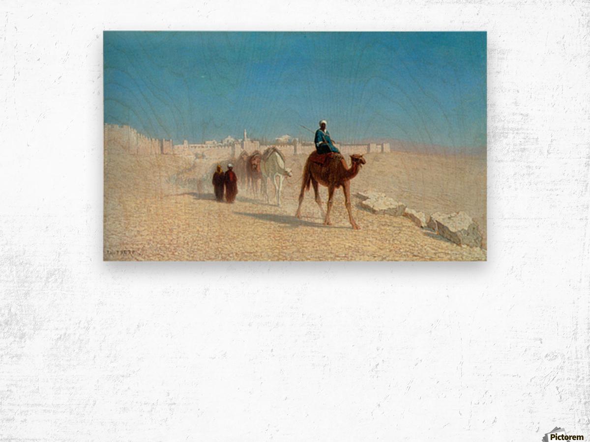 Jerusalem Cote de la Porte de Jaffe Wood print