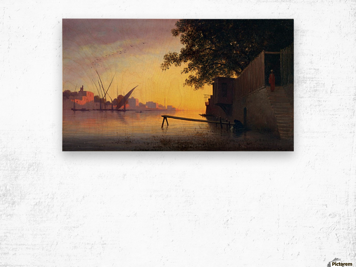 Evening on the Nile Wood print