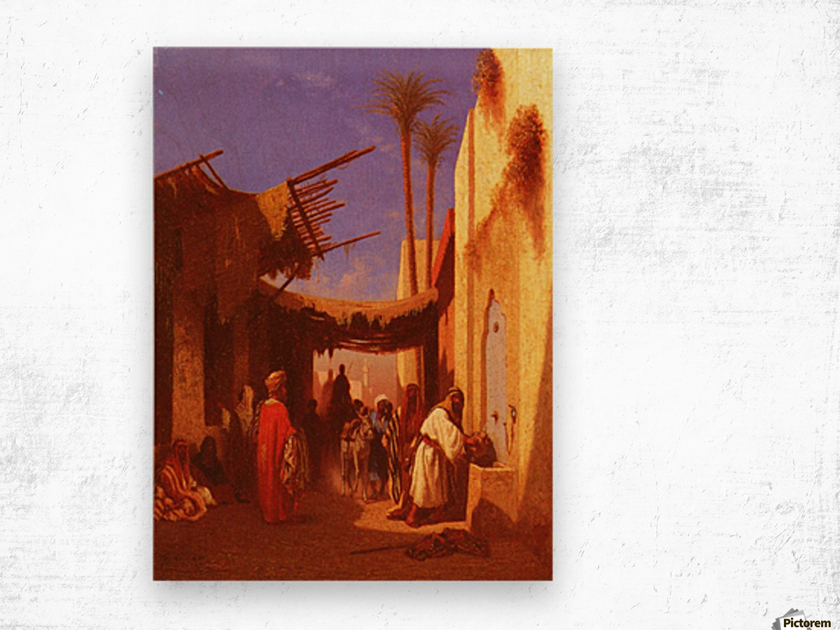 Street in Damascus Wood print