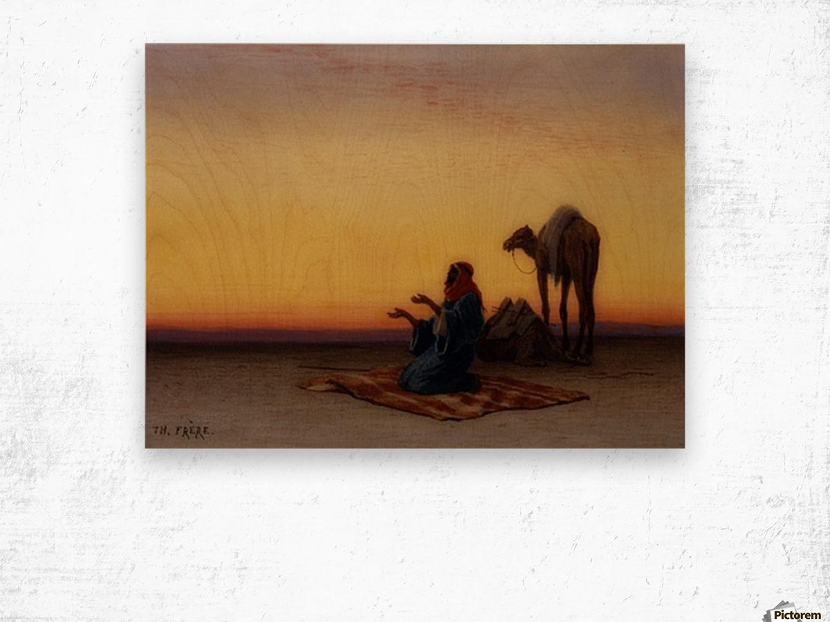 Arab at prayer Wood print