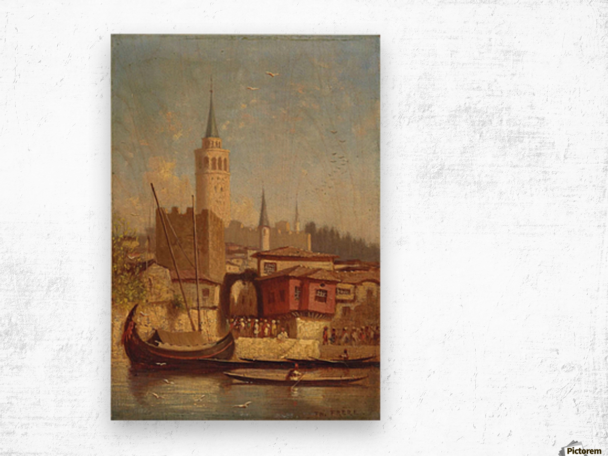 The Galata Tower, Constantinople Wood print