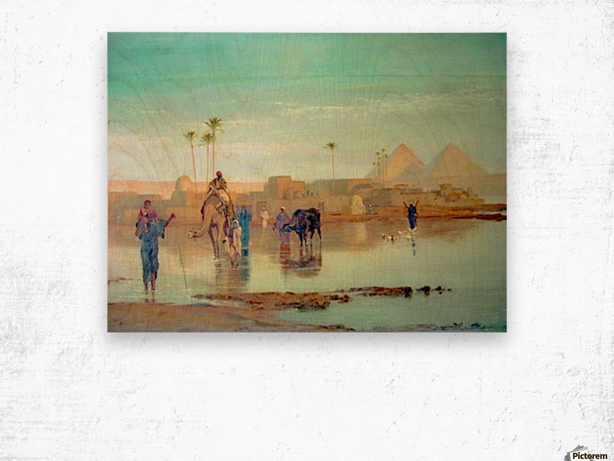 Nile overflow Wood print