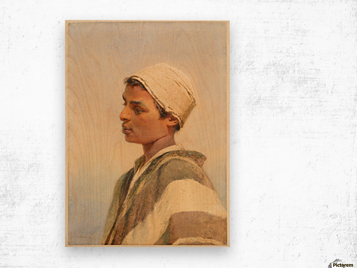 A Bedouin Boy Wood print