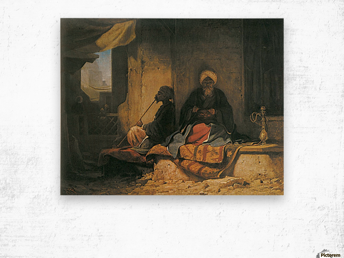 Two Turkish men in a cofee house Wood print