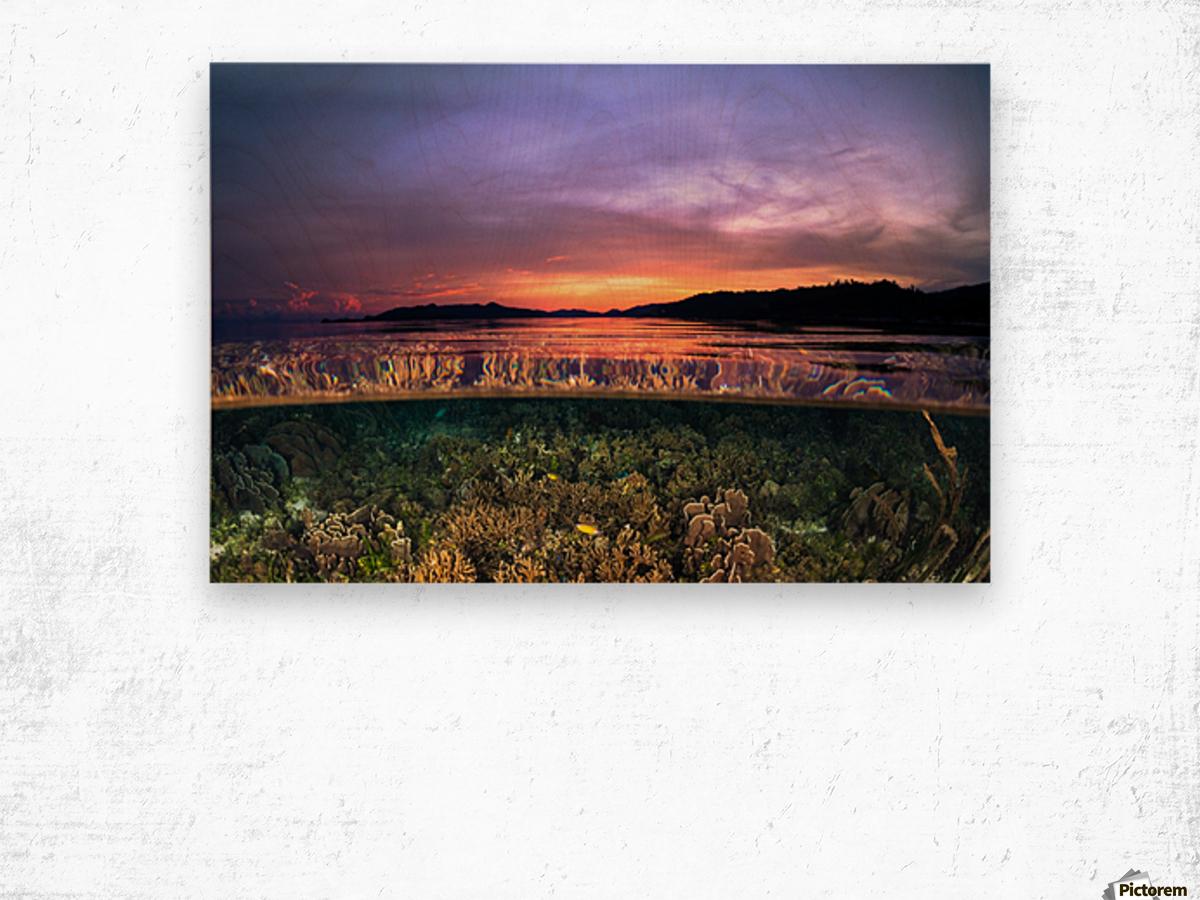 Raja Ampat sunrise Wood print