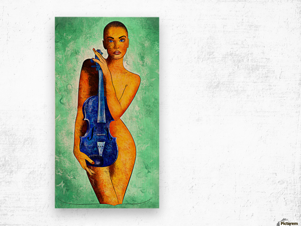 Bellaseussa - beauty with violin Wood print