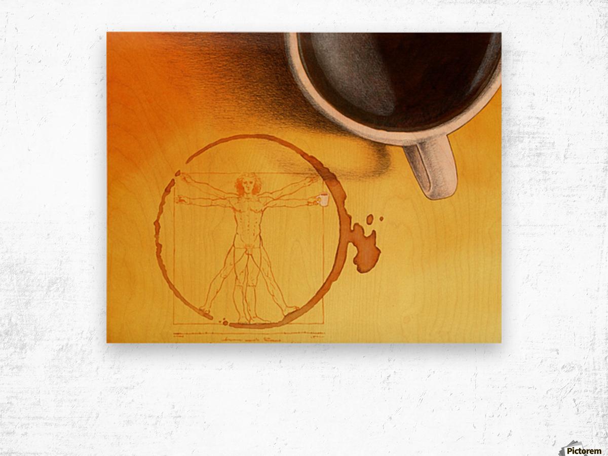 coffee man Wood print