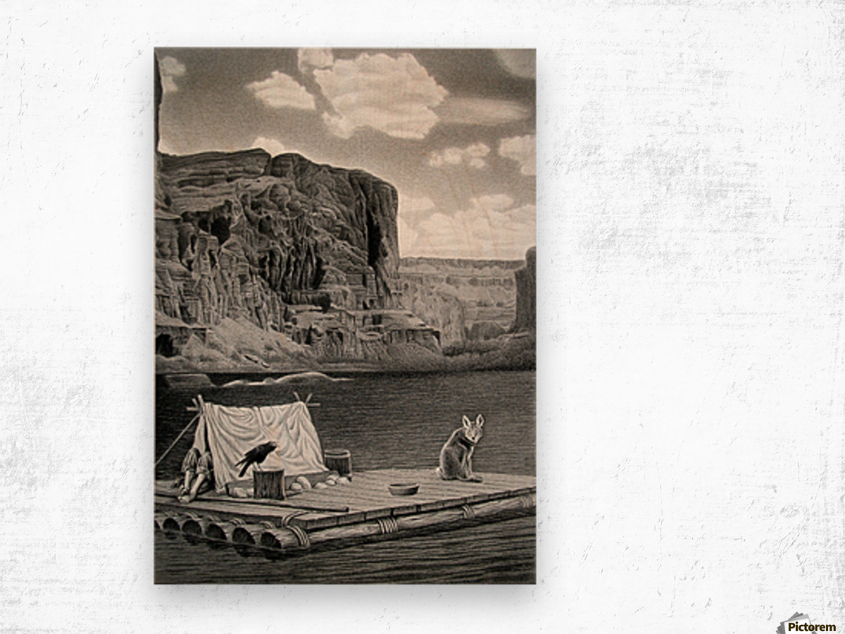IN THE GRAND CANYON Wood print