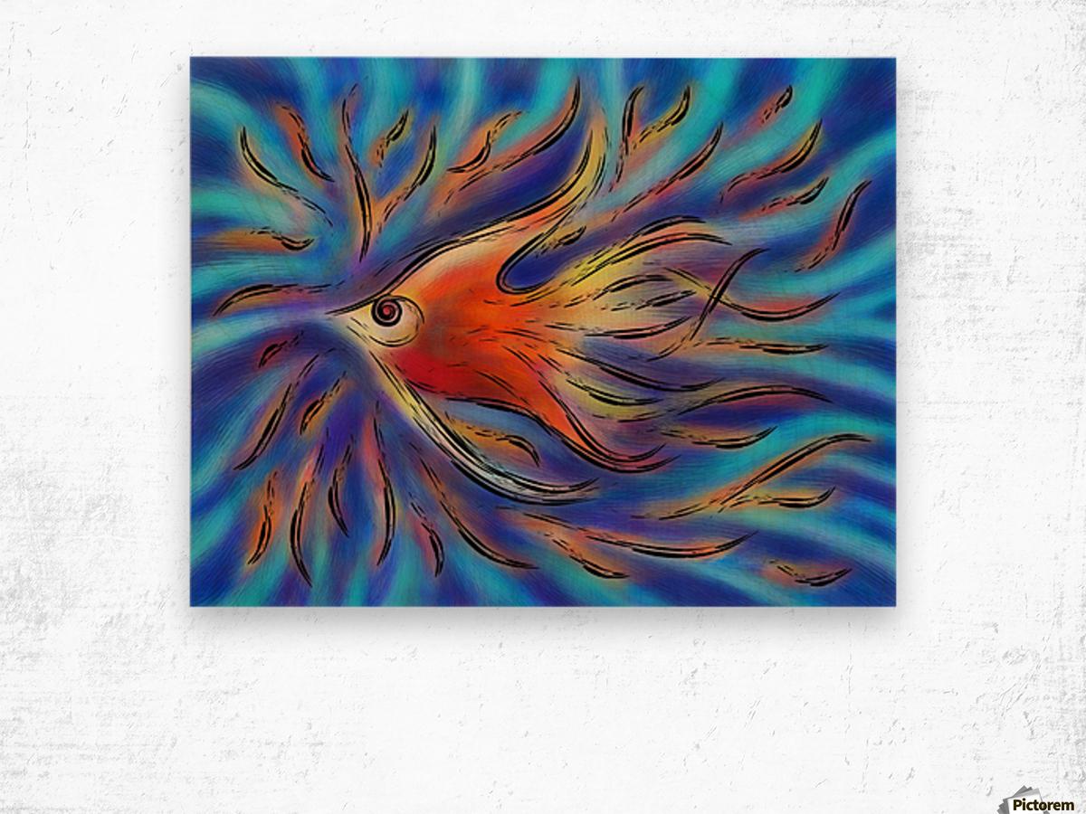 Poloniussa - red angelfish Wood print