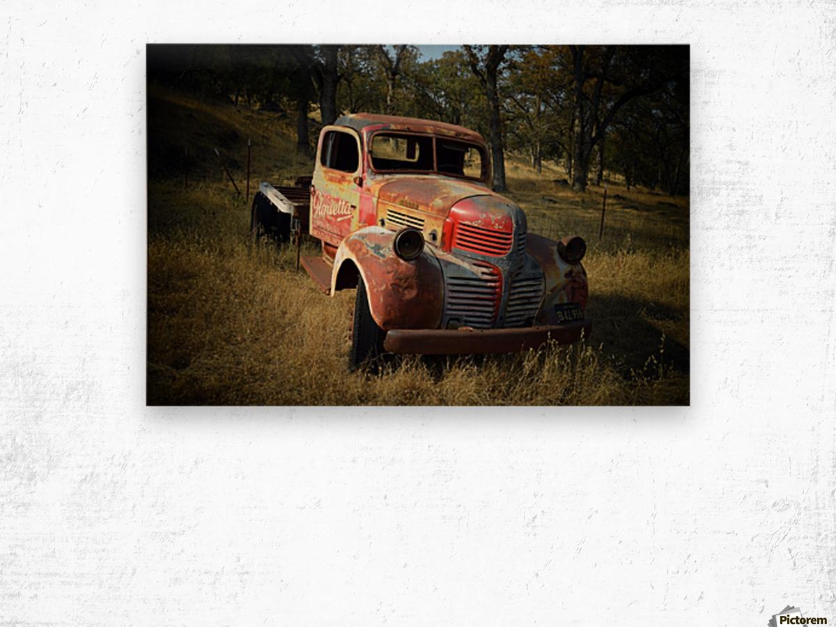 Abandoned Dodge Truck Wood print