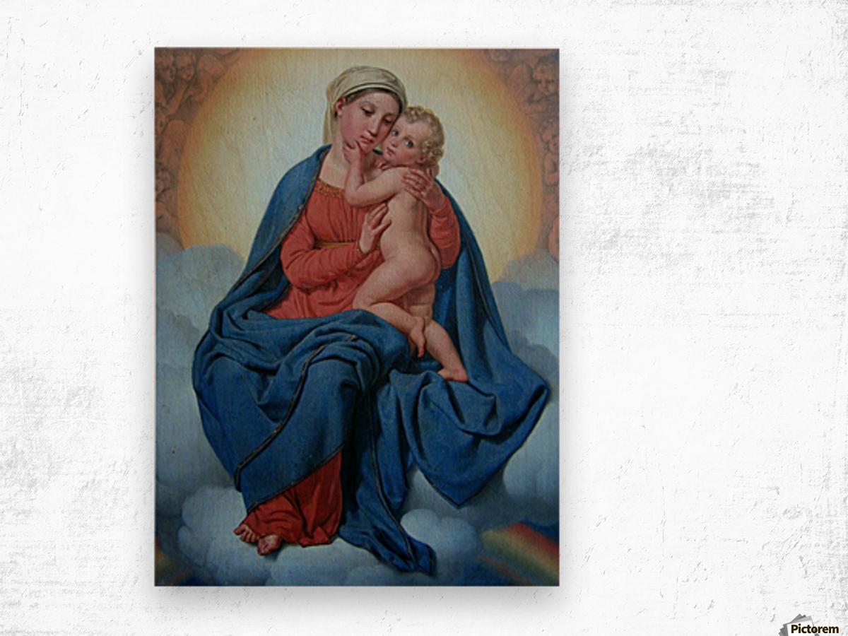 Maria med Jesusbarnet Wood print