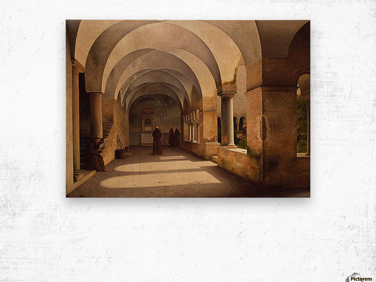 The Cloisters, San Lorenzo fuori le mura Wood print