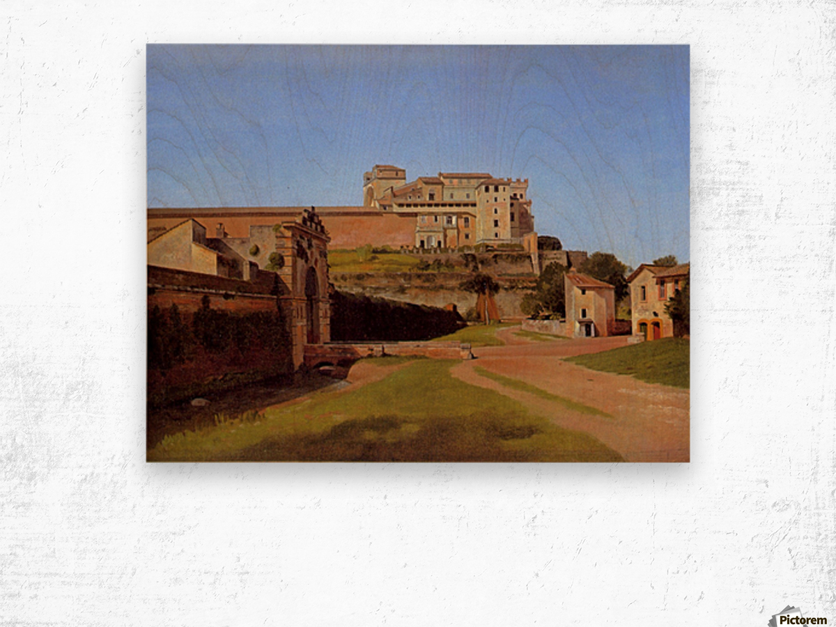Rome, Porta Angelica and part of the Vatican, 1813 Wood print