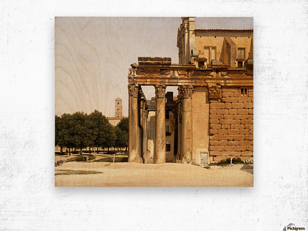 View of the Via Sacra, Rome, 1814 Wood print