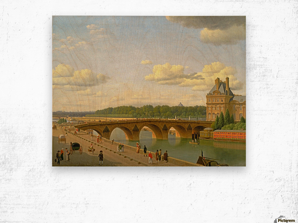 View at Pont Royal from Voltaire Quai in Paris Wood print