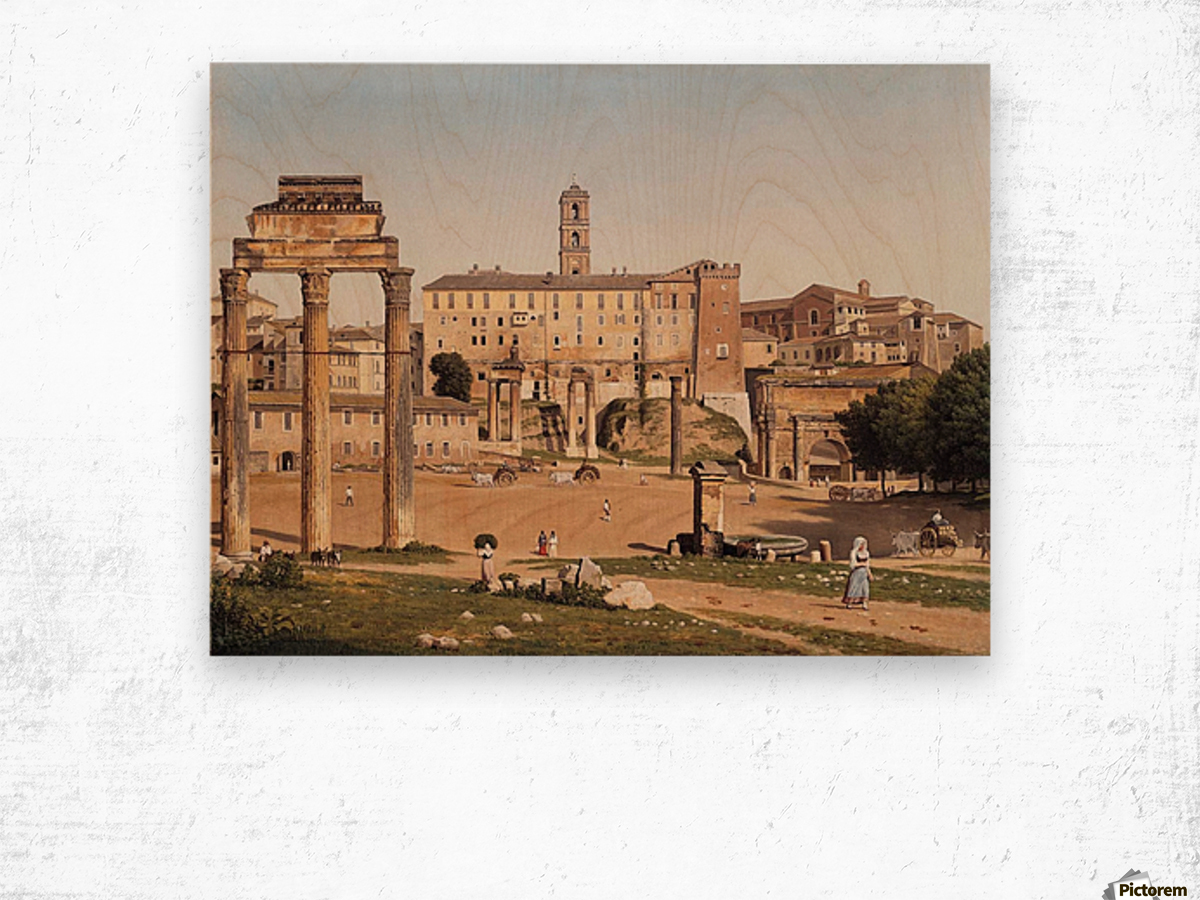 View of the Forum in Rome Wood print