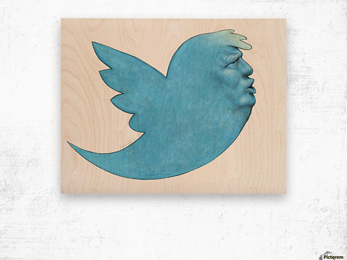 president Wood print
