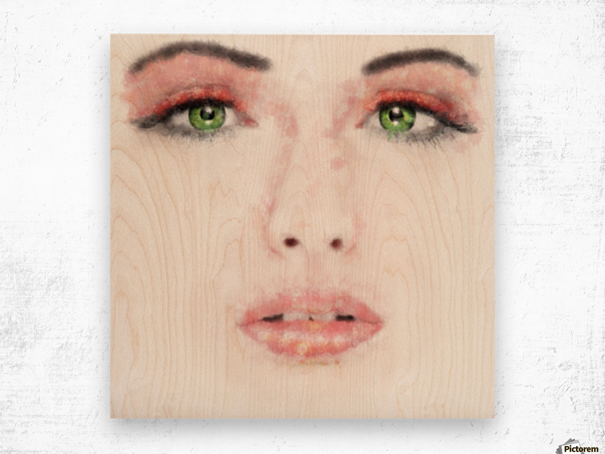 Kessania - white face Wood print