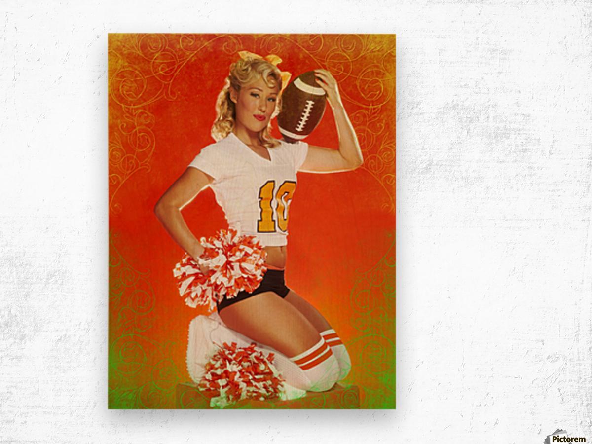 Lou Freeman©  Vintage Pin Up Girls 14622 Wood print