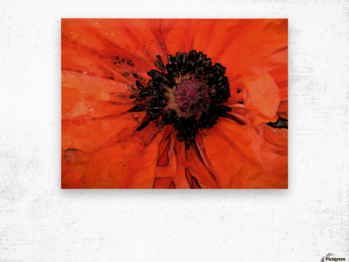 poppies will make you sleep Wood print