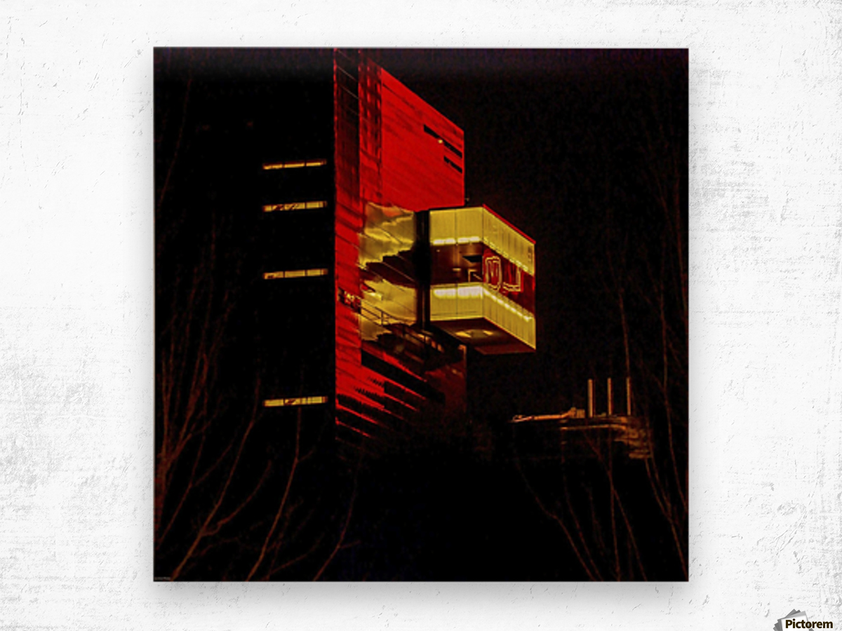 Night at the Guthrie Wood print
