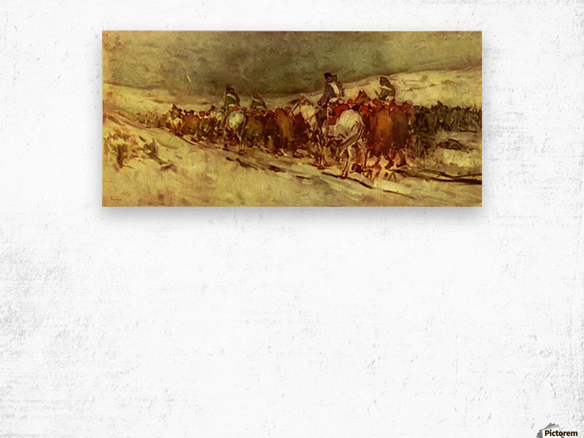 Moving troops Wood print