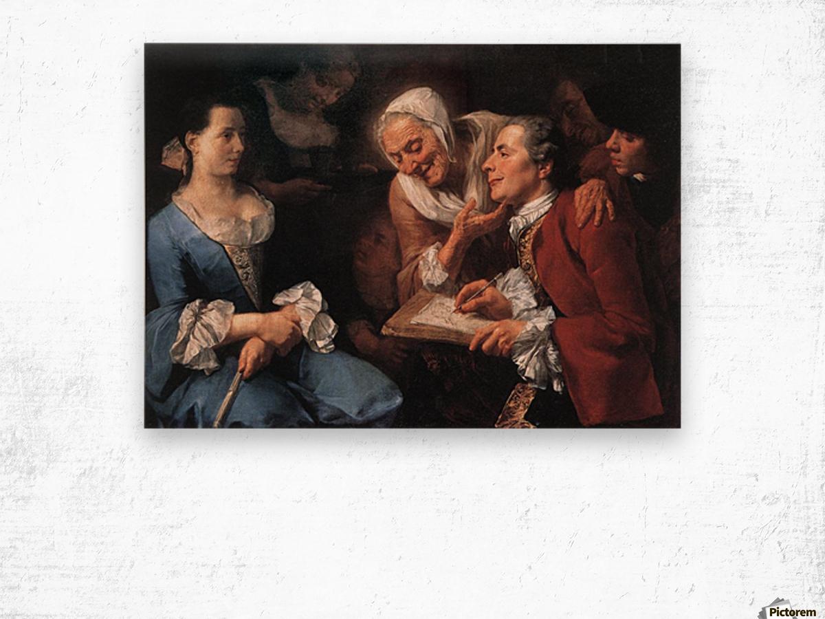 The sitting, 1754 Impression sur bois