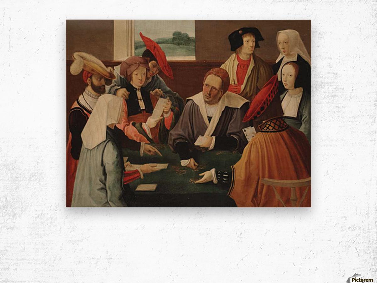 The card players Impression sur bois