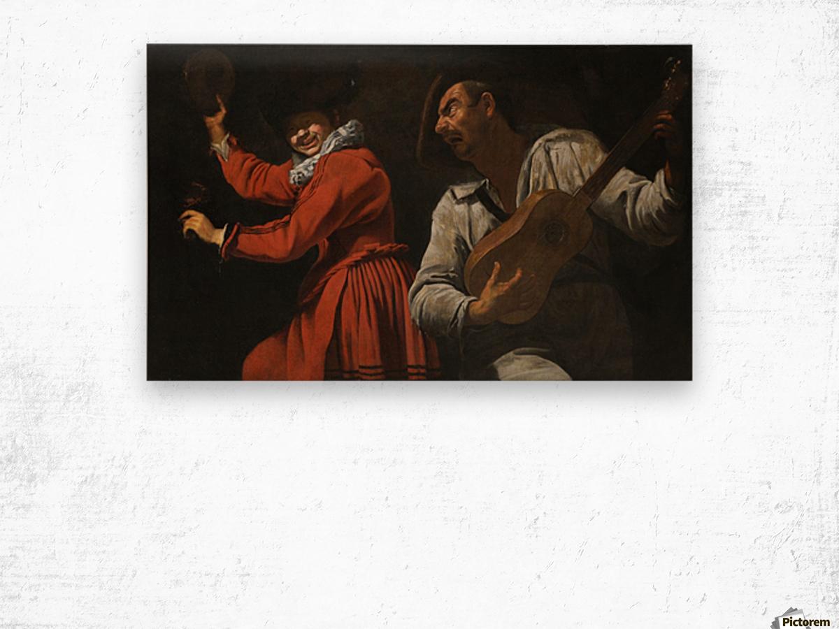 The two musicians Impression sur bois