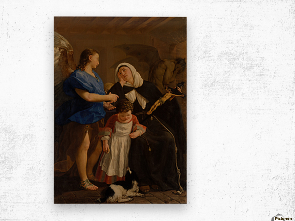 Saint Margaret of Cortona Impression sur bois